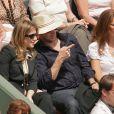 Amanda Sthers et Patrick Bruel à Roland Garros