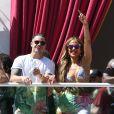 Jennifer Lopez et son compagnon Casper Smart s'amusent au Beachclub 'Carnival Del Sol' à Las Vegas, le 29 mai 2016