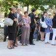 Obsèques de Jacqueline Pagnol en l'église Saint-Honoré d'Eylau à Paris, en présence de sa famille et ses proches. Le 26 août 2016