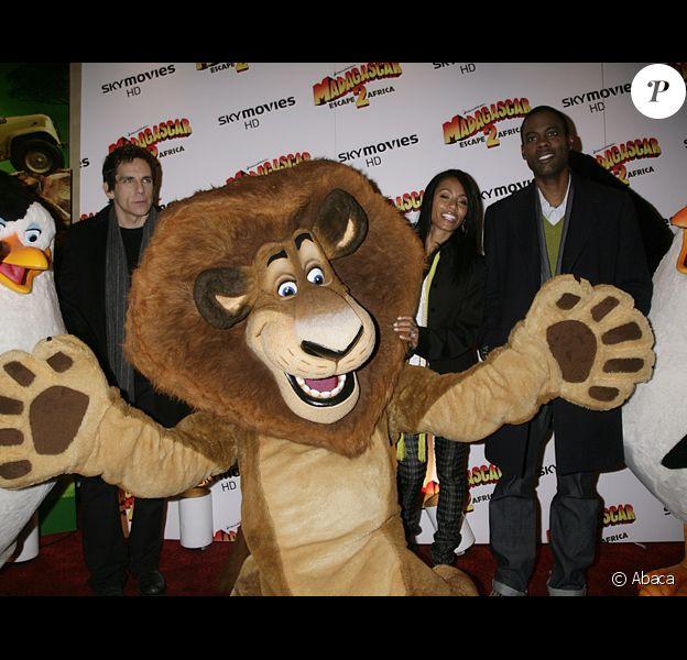 Ben Stiller, Chris Rock et Jada Pinkett-Smith à l'avant-première de Madagascar: Escape 2 Africa