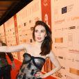 """Carice van Houten (habillée en Dior, présente le prix du meilleur acteur et de la meilleure actrice) - 28e cérémonie annuelle des """"European Film Awards"""" à Berlin, le 12 décembre 2015."""