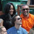 Amel Bent et Patrick Antonelli - Internationaux de France de tennis de Roland-Garros à Paris, le 5 juin 2014.