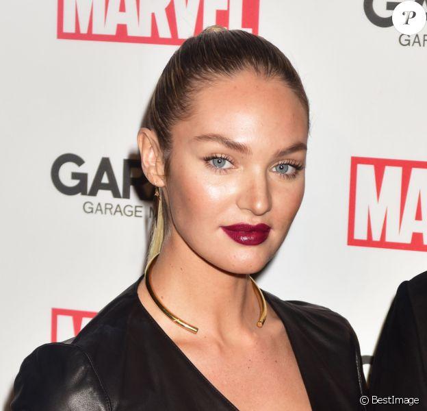 "Candice Swanepoel - Soirée ""Marvel and Garage Magazine"" à New York le 11 février 2016."