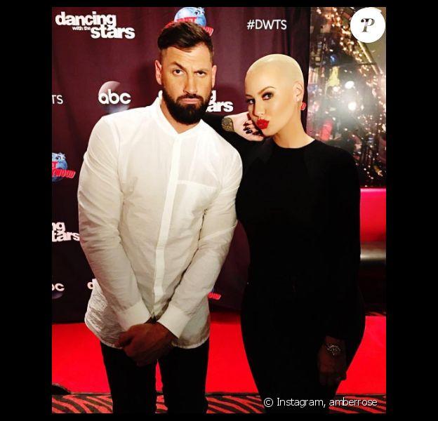 Amber Rose participe à la 23e saison de l'émission Dancing With The Stars avec Maksim Chmerkovskiy. Photo publiée sur Instagram au début du mois de septembre 2016.