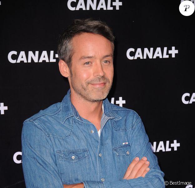 Yann Barthès et l'équipe du 'Petit Journal' lors de la soiree de rentrée Canal plus organisée à Paris, le 28 aout 2013