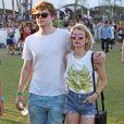 Emma Roberts et son compagnon Evan Peters au 3ème jour du festival de musique Coachella à Indio. Le 13 avril 2014