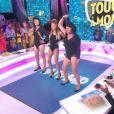 """Benjamin Castaldi, Jean-Michel Maire et Danyellah Polnareff parodient Single Ladies de Beyoncé, dans """"Touche pas à mon poste"""", jeudi 15 septembre 2016, s"""