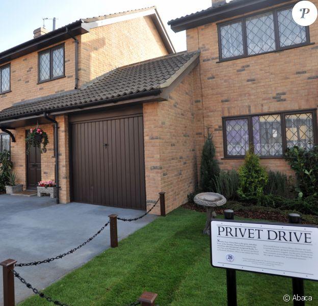 Réplique du 4, Privet Drive, Little Whinging, aux Warner Brothers' Leavesden Studios. Avril 2012.