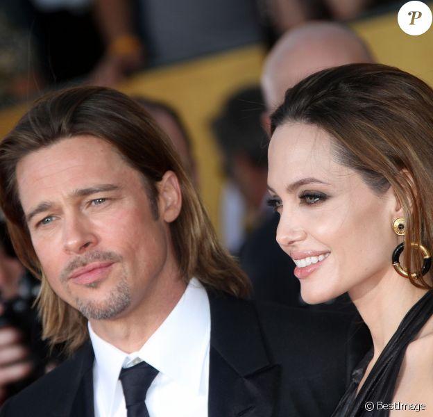 Angelina Jolie et Brad Pitt aux Screen Actors Guild Awards (SAG) 2012