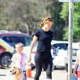 Jennifer Garner est allée chercher ses enfants Seraphina et Samuel à une journée concours sportifs à Los Angeles. Le 18 septembre 2016