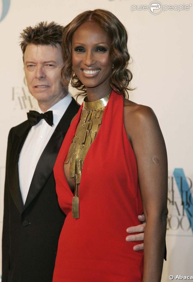David Bowie et Iman se...