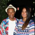 Pharrell Williams et sa femme Helen Lasichanh à la soirée Chanel en l'honneur du nouveau parfum N 5 L' EAU à Sunset Tower à Los Angeles, le 22 septembre 2016