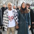 "Pharrell Williams et sa femme Helen Lasichanh au défilé de mode prêt-à-porter ""Chanel"", collection automne-hiver 2016/2017, à Paris. Le 8 mars 2016 © CVS / Veeren / Bestimage"