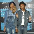 Pharrell Williams et sa femme Helen Lasichanh à la Soirée des MTV Video Music Awards à Los Angeles le 30 aout 2015.