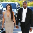 Kim Kardashian et Kanye West se rendant au mariage d'un ami à Simi Valley, en Californie, le 23 septembre 2016