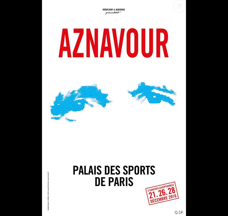 Charles Aznavour au Palais des Sports de Paris les 21, 26 et 28 décembre 2016.