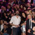 """Fréderic Beigbeder et sa femme Lara Micheli - Soirée de la 9ème édition du """"Etam Live Show"""" lors de la Fashion Week à Paris, le 27 septembre 2016. La marque Etam fête ses 100 ans en 2016. © Rachid Bellak/Bestimage"""