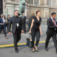 La ministre de la Culture Audrey Azoulay - Défilé Lanvin (collection prêt-à-porter printemps-été 2017) à l'Hôtel de Ville. Paris, le 28 septembre 2016 © CVS-Veeren / Bestimage
