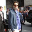 "Jim Carrey à l'émission ""Late Show With David Letterman"" à New York, le 20 mai 2015"