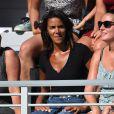 Shy'm soutient son compagnon Benoît Paire à l'US Open de New-York le 29 août 2016.