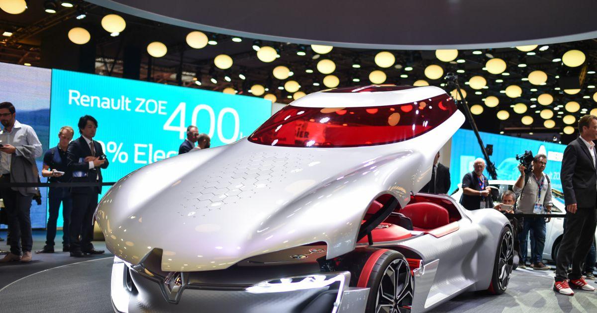 Stand Renault Trezor Concept Car L Ctrique 119 Me Dition Du Mondial De L 39 Automobile 2016