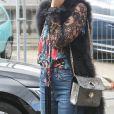 """Clotilde Courau sortant du défilé de mode """"Elie Saab"""", collection prêt-à-porter Printemps-Eté 2017 à Paris, le 1er octobre 2016"""