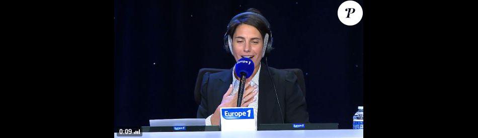 Alessandra Sublet dans La cour des grands sur Europe 1, le 5 octobre 2016