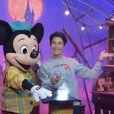 """Alessandra Sublet - People au lancement du nouveau spectacle """"Mickey et le magicien"""" au Parc Disneyland Paris. Le 2 juillet 2016 © Giancarlo Gorassini / Bestimage"""