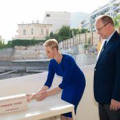 Charlene de Monaco : Glamour et coiffée court sur un gros chantier avec Albert