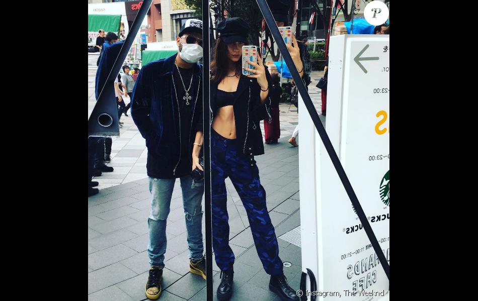 Photo de The Weeknd et Bella Hadid à Tokyo. Octobre 2016.