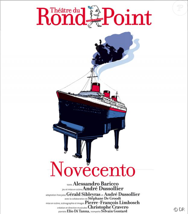 Affiche du spectacle Novecento au théâtre du Rond-Point à Paris