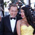 """Ayem Nour et son compagnon Vincent Miclet - Montée des marches du film """"Inside Out"""" (Vice-Versa) lors du 68 ème Festival International du Film de Cannes, à Cannes le 18 mai 2015."""