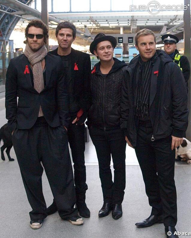 Les Take That à la Gare de St Pancras