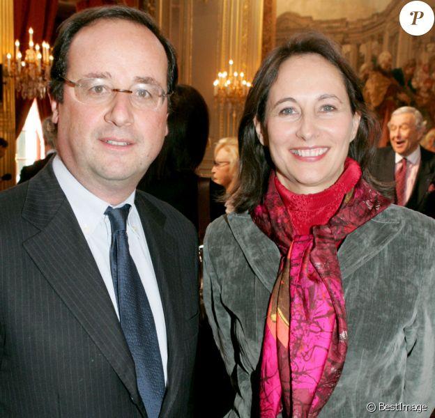 François Hollande et Ségolène Royal à l'Elysée le 14 mars 2005.