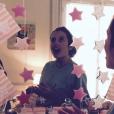 Louise Monot, enceinte, lors de sa baby-shower le 2 octobre 2016