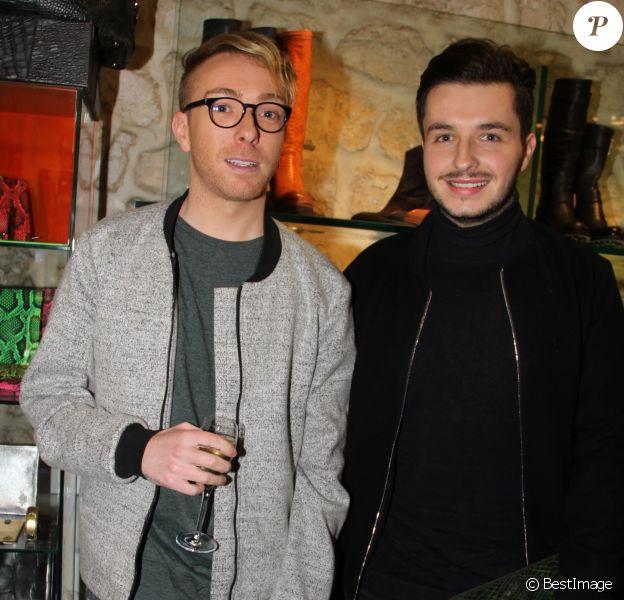 """Exclusif - Olympe  et son mari Julien - Soirée Samsung à la boutique """"Free Lance"""" à Paris, le 10 décembre 2014."""