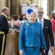La princesse Christina de Suède et son mari Tord Magnuson lors de la messe de Te Deum en l'honneur du 70e anniversaire du roi Carl XVI Gustaf de Suède au palais royal à Stockholm le 30 avril 2016 Stockholm.