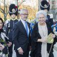 La princesse Christina de Suède arrivant avec son mari Tord Magnuson au concert pour le 70e anniversaire du roi Carl XVI Gustaf de Suède au Musée Nordic à Stockholm le 29 avril 2016