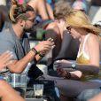 Lindsay Lohan et Dennis Papageorgiou sur une plage à Mykonos, le 28 août 2016