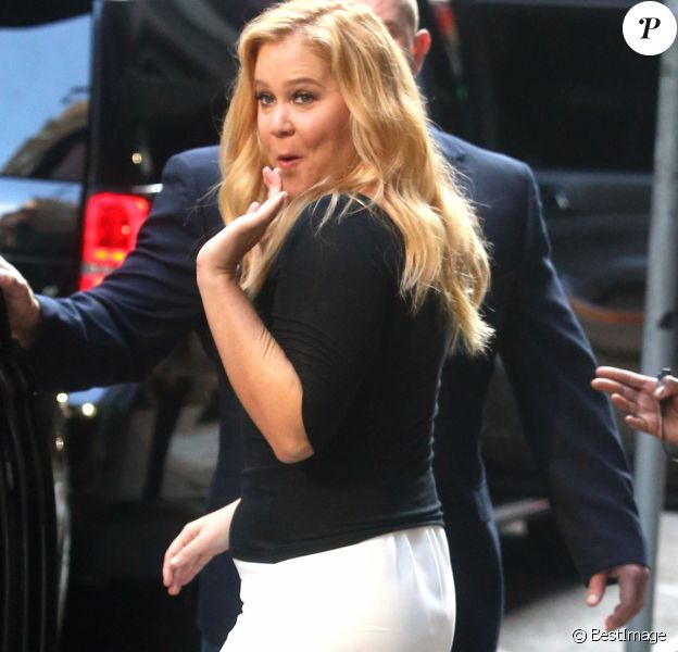 "Amy Schumer sur le plateau de l'émission ""Good morning America"" aux studios ABC à New York le 16 août 2016. Ce"