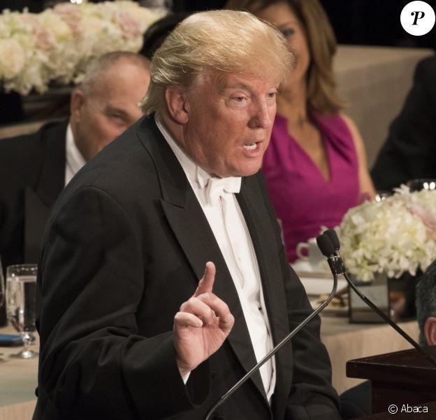 Donald Trump au dîner Alfred E. Smith, organisé dans les salons du prestigieux Waldorf Astoria, à New York le 20 octobre 2016 à New York le 20 octobre 2016