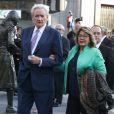 le journaliste Luis Del Olmo et sa femme Mercedes Gonzalez -Remise des prix Princesse des Asturies en présence du roi Felipe VI, La reine Letizia et de Sofia au théâtre Campoamor à Oviedo, Espagne, le 21 octobre 2016.