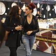 Delphine Wespiser (Miss France 2012) et une amie au Défilé du 22ème salon du chocolat à la porte de Versailles à Paris le 27 octobre 2016. (coiffures Franck Provost / maquillages Make Up For Ever) © Veeren-Perusseau/Bestimage