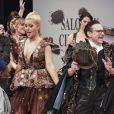 Katrina Patchett, Jean-Marc Généreux et Denitsa Ikonomova au 22ème salon du chocolat à la porte de Versailles à Paris le 27 octobre 2016. (coiffures Franck Provost / maquillages Make Up For Ever) © Veeren-Perusseau/Bestimage