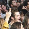 Louis Sarkozy lors du délilé de sa compagne Capucine Anav au 22ème salon du chocolat à la porte de Versailles à Paris le 27 octobre 2016. (coiffures Franck Provost / maquillages Make Up For Ever) © Veeren-Perusseau/Bestimage