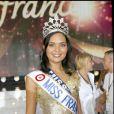 Valérie Bègue (Miss Réunion) élue Miss France 2008 à Dunkerque, le 8 décembre 2007.