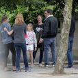 Exclusif - Ben Affleck profite de moments en famille avec Jennifer Garner et leurs enfants Violet, Seraphina et Samuel le 26 mai 2016 en marge du tournage de Justice League.