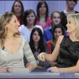 Laeticia Hallyday et Maud Fontenoy au Grand Journal, le 8/12/08