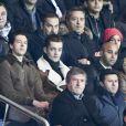 Louis Sarkozy assiste à la clôture de la 12ème journée de Ligue 1 qui opposait le Paris Saint Germain au Stade Rennais (victoire 4-0 du PSG), à Paris au Parc des Princes le 6 novembre 2016.