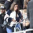 Malika Ménard assiste à la clôture de la 12ème journée de Ligue 1 qui opposait le Paris Saint Germain au Stade Rennais (victoire 4-0 du PSG), à Paris au Parc des Princes le 6 novembre 2016.